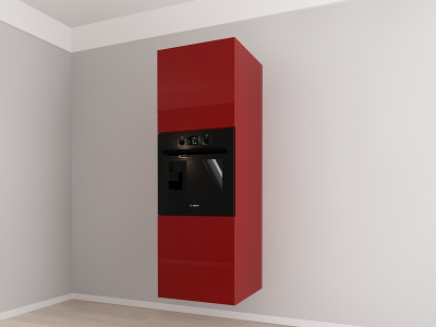 Corp vertical 187 Adancime 57 pentru cuptor incorporabil si 2 usi - Evora Bordo1