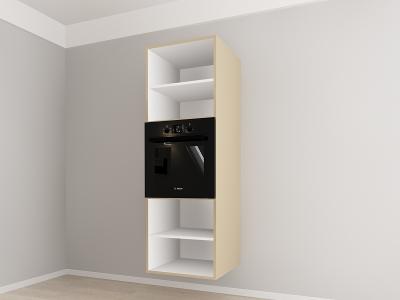 Corp vertical 187 Adancime 57 pentru cuptor incorporabil si 2 usi - Evora Cappuccino2