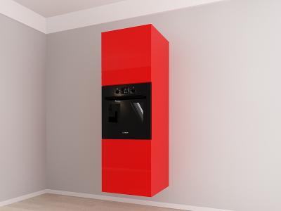 Corp vertical 187 Adancime 57 pentru cuptor incorporabil si 2 usi - Evora Rosu1