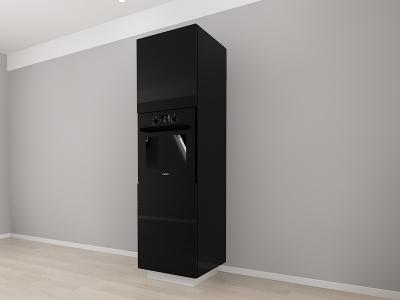 Corp Vertical 210 Adancime 57 pentru cuptor incorporabil si 2 usi - Blanca Negru2