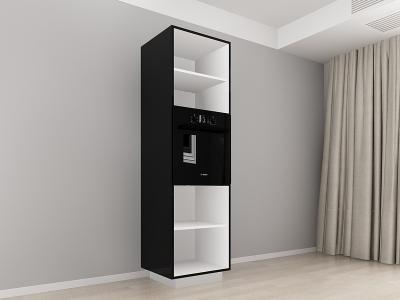 Corp Vertical 210 Adancime 57 pentru cuptor incorporabil si 2 usi - Blanca Negru1