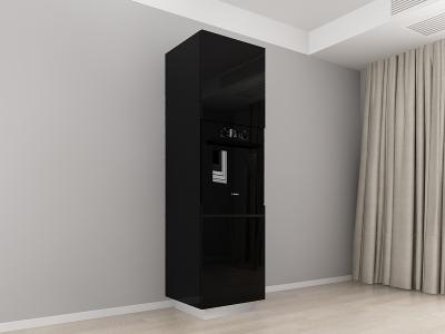 Corp Vertical 210 Adancime 57 pentru cuptor incorporabil si 2 usi - Blanca Negru0