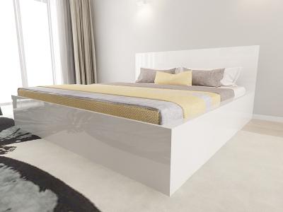 Set Mobila Dormitor COMO 3 MDF Alb3
