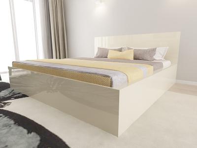 Set Mobila Dormitor COMO 3 MDF Crem3