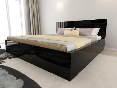 Set Mobila Dormitor COMO 3 MDF Negru3