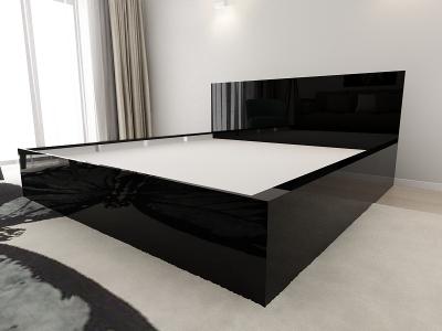 Set Mobila Dormitor COMO 3 MDF Negru4