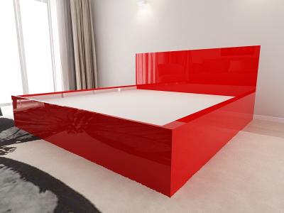 Set Mobila Dormitor COMO 3 MDF Rosu4