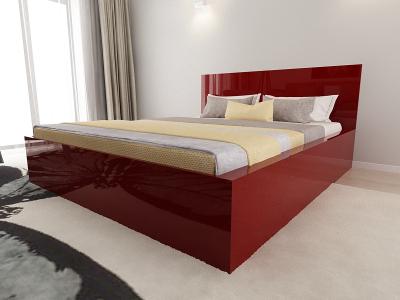 Set Mobila Dormitor COMO 2 MDF Bordo3