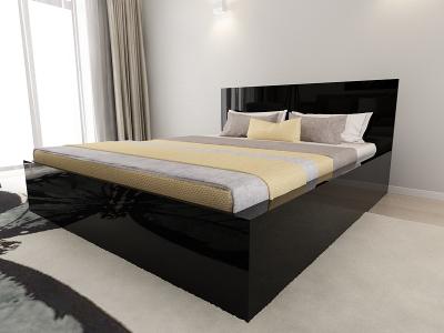 Set Mobila Dormitor COMO 2 MDF Negru3