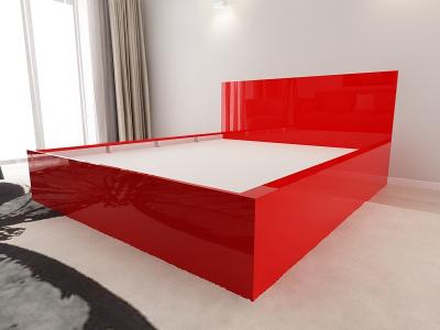 Set Mobila Dormitor COMO 2 MDF Rosu4