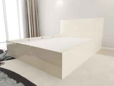 Set Mobila Dormitor COMO 1 MDF Crem4