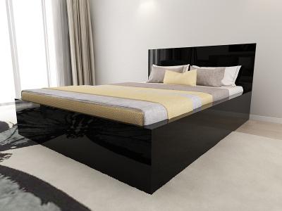Set Mobila Dormitor COMO 1 MDF Negru3