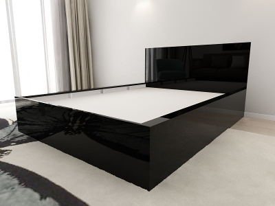Set Mobila Dormitor COMO 1 MDF Negru4