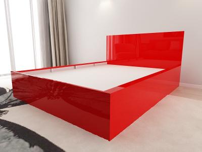 Set Mobila Dormitor COMO 1 MDF Rosu4