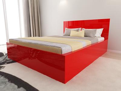 Set Mobila Dormitor COMO 1 MDF Rosu3
