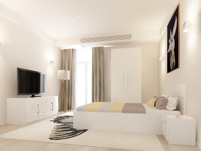Set Mobila Dormitor COMO 1 MDF Alb0