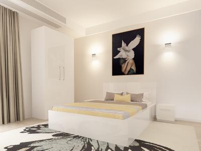 Set Mobila Dormitor COMO 1 MDF Alb1