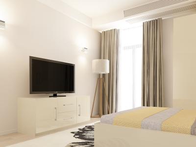 Set Mobila Dormitor COMO 1 MDF Crem2