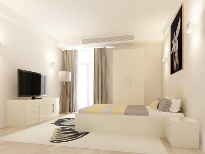 Set Mobila Dormitor COMO 1 MDF Crem0