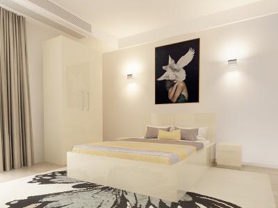 Set Mobila Dormitor COMO 1 MDF Crem1