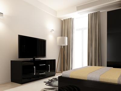 Set Mobila Dormitor COMO 1 MDF Negru2