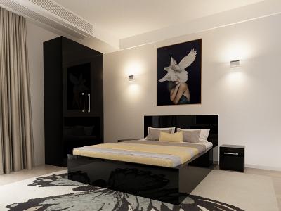Set Mobila Dormitor COMO 1 MDF Negru1