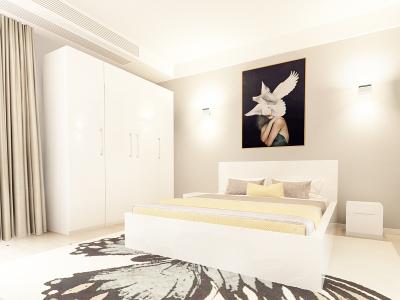 Set Mobila Dormitor COMO 2 MDF Alb1