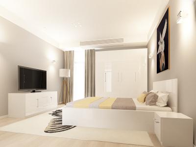 Set Mobila Dormitor COMO 2 MDF Alb0
