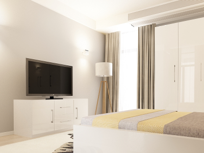 Set Mobila Dormitor COMO 2 MDF Alb2