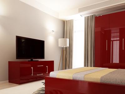 Set Mobila Dormitor COMO 2 MDF Bordo2