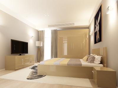 Set Mobila Dormitor COMO 2 MDF Cappuccino0