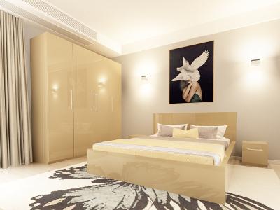 Set Mobila Dormitor COMO 2 MDF Cappuccino1