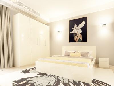 Set Mobila Dormitor COMO 2 MDF Crem1