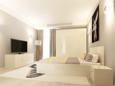 Set Mobila Dormitor COMO 2 MDF Crem0