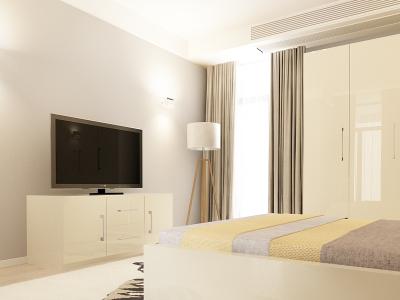 Set Mobila Dormitor COMO 2 MDF Crem2