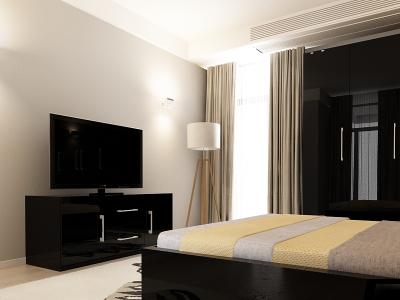 Set Mobila Dormitor COMO 2 MDF Negru15