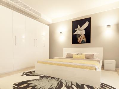 Set Mobila Dormitor COMO 3 MDF Alb1