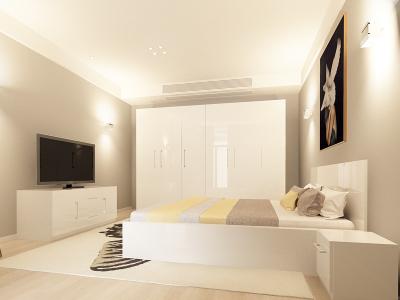 Set Mobila Dormitor COMO 3 MDF Alb0