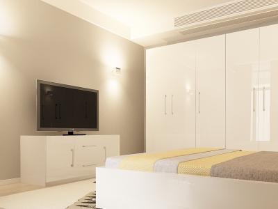Set Mobila Dormitor COMO 3 MDF Alb2