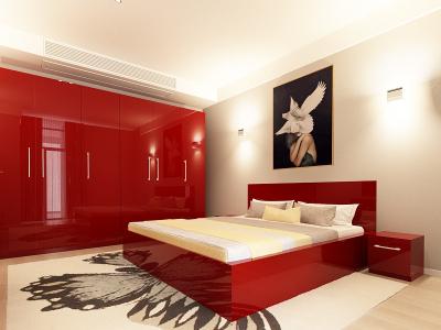 Set Mobila Dormitor COMO 3 MDF Bordo1