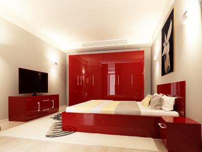 Set Mobila Dormitor COMO 3 MDF Bordo0