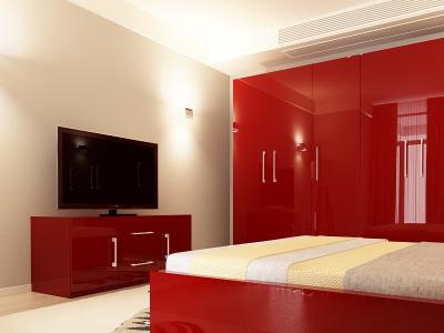 Set Mobila Dormitor COMO 3 MDF Bordo2