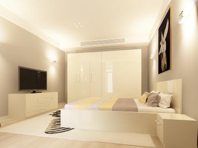 Set Mobila Dormitor COMO 3 MDF Crem0
