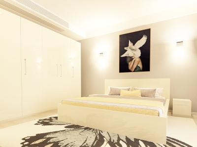 Set Mobila Dormitor COMO 3 MDF Crem1