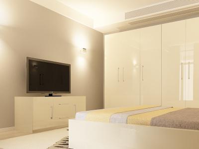 Set Mobila Dormitor COMO 3 MDF Crem2
