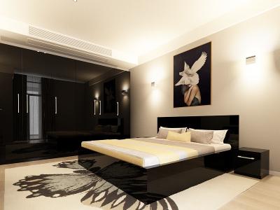 Set Mobila Dormitor COMO 3 MDF Negru1