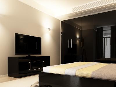 Set Mobila Dormitor COMO 3 MDF Negru2
