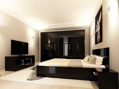 Set Mobila Dormitor COMO 3 MDF Negru0