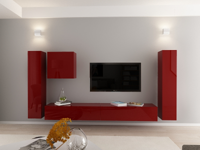 Set Mobila Living Quadro 1 MDF Bordo4