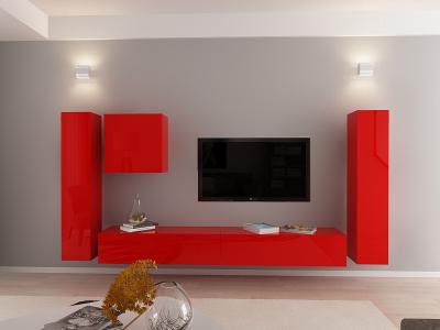 Set Mobila Living Quadro 1 MDF Rosu0